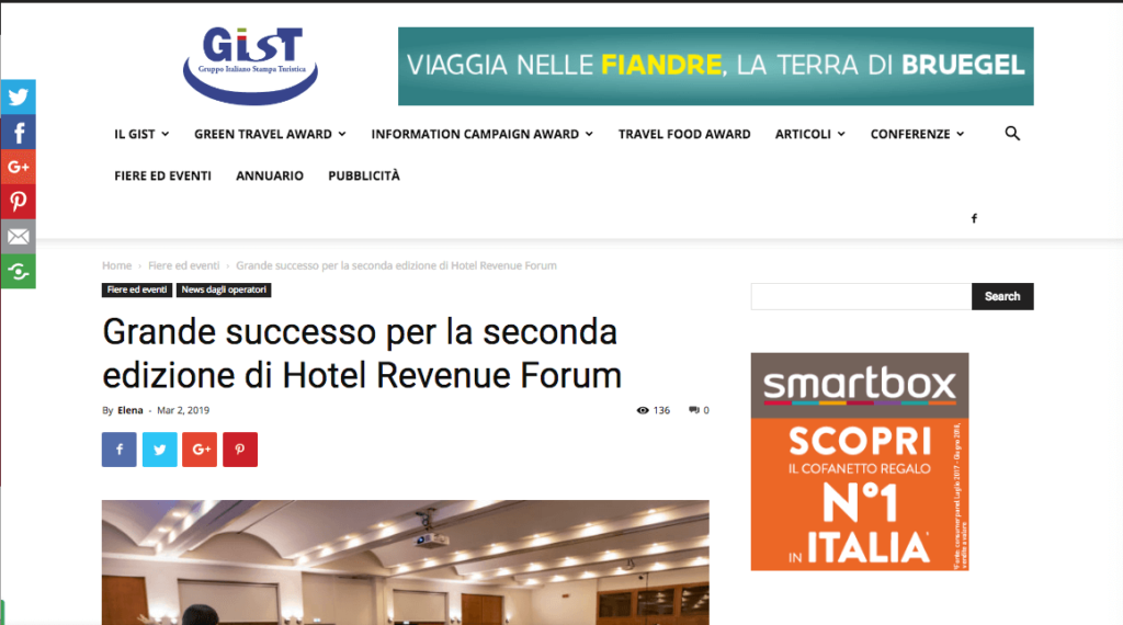 Hotel Revenue Forum - Un evento dedicato al Revenue
